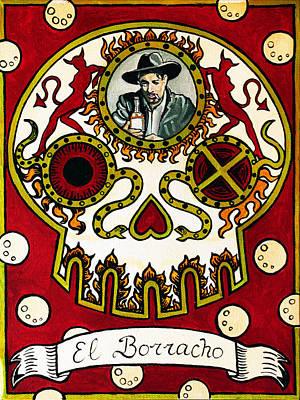 Loteria Painting - El Borracho - The Drunk by Mix Luera