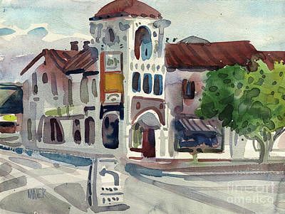 El Camino Real In San Carlos Print by Donald Maier
