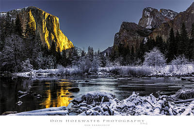Photograph - El Cap At Sunrise by PhotoWorks By Don Hoekwater