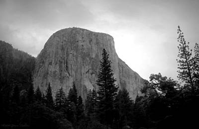 Photograph - El Capitan Black And White by Joyce Dickens