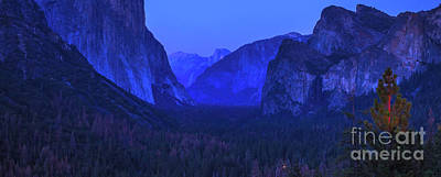 Photograph - El Capitan Blue Hour by Benny Marty