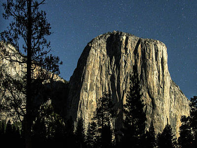 El Capitan By Starlight, Yosemite Valley, Yosemite Np, Ca Art Print