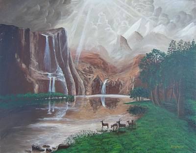 El Capitan Painting - El Capitan Falls by Philipp Merillat