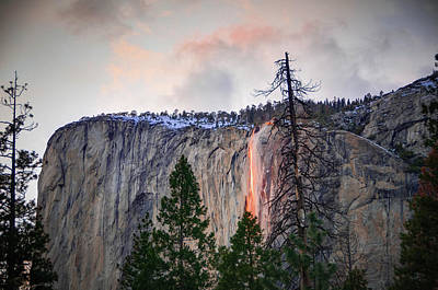Photograph - El Capitan Glowing Horsetail Falls by Connie Cooper-Edwards