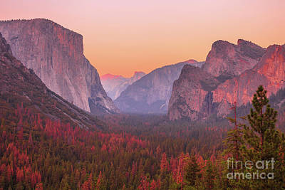 El Capitan Golden Hour Art Print