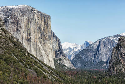 Photograph - El Capitan, Half Dome And Sentinel Rock From Tunnel View by Belinda Greb