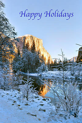 Photograph - El Capitan - Happy Holidays by Patricia Sanders
