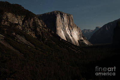 Photograph - El Capitan In Moonlight At Yosemite by Toula Mavridou-Messer