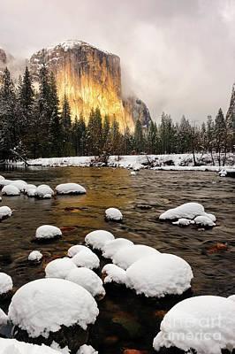 Photograph - El Capitan In Winter Sunset by Tibor Vari