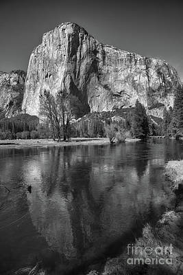 Photograph - El Capitan Reflected In The Merced River Of Yosemite by Terry Garvin