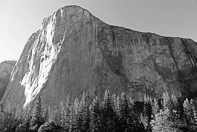 Yosemite Np Photograph - El Capitan Black And White by Sierra Vance
