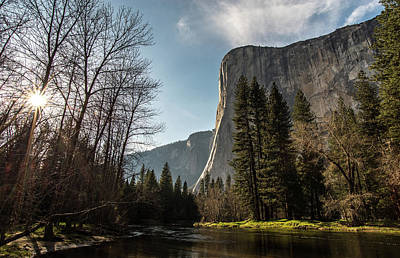 Photograph - El Capitan Sunburst by Ken Dietz