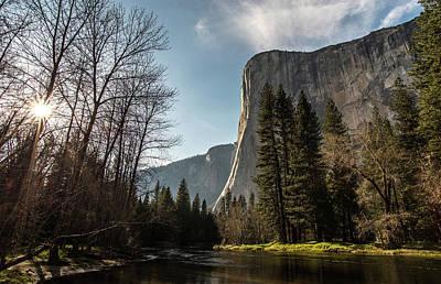 Photograph - El Capitan Sunburst by Ken Dietz