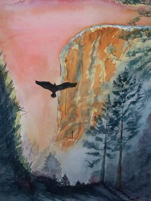 El Capitan Painting - El Capitan  Sunset by Warren Thompson