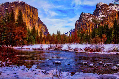 El Capitan Sunset Yosemite Valley Art Print