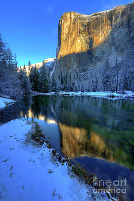 Photograph - El Capitan Winter Yosemite National Park by Wayne Moran