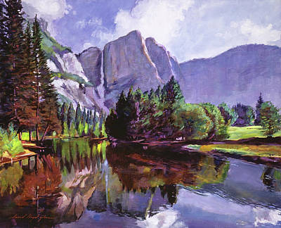 Yosemite Painting -  El Capitan Yosemite by David Lloyd Glover