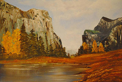 Yosemite Painting - El Capitan Yosemite Valley by James Higgins