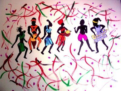 Painting - El Carnaval by Lorna Lorraine