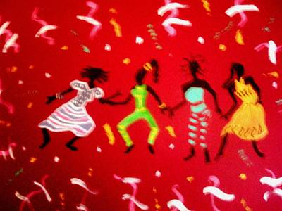 Painting - El Carnaval2 by Lorna Lorraine