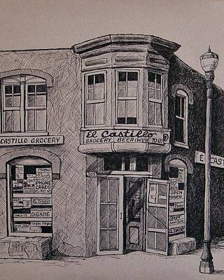 Downtown Drawing - El Castillo by Candy Mayer