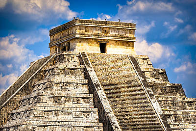 Photograph - El Castillo - Pyramid At Chichen Itza by Mark E Tisdale
