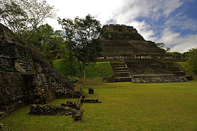 Mayan Photograph - El Castillo Pyramid At Xunantunich by Panoramic Images