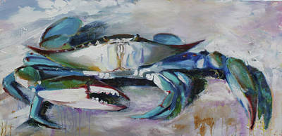 Painting - El Chapo Blue Crab Of The Chesapeake by Susan Bradbury