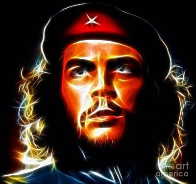 Fabulous Mixed Media - El Che Guevara by Pamela Johnson