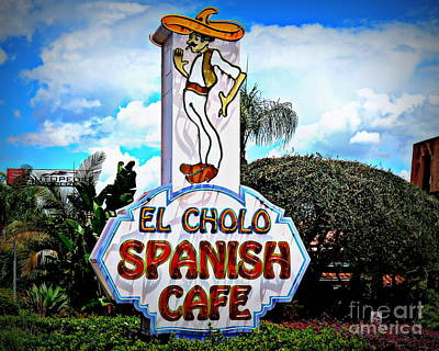 Popstar And Musician Paintings Royalty Free Images - El Cholo Spanish Cafe Royalty-Free Image by Betsy Warner