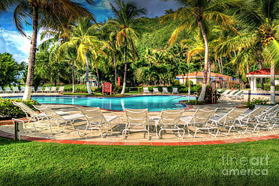Photograph - Lounge Chairs Resort Pool How Nice Is That by David Zanzinger
