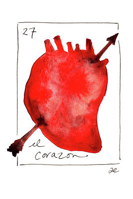 Painting - El Corazon by Anna Elkins