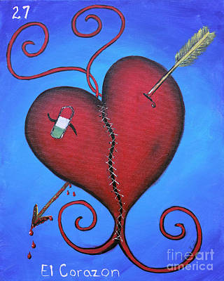 Painting - El Corazon by Sonia Flores Ruiz