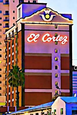 Photograph - El Cortez Hotel At Dusk by Tatiana Travelways