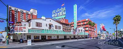 Las Vegas Photograph - El Cortez Hotel On Fremont Street 2.5 To 1 Ratio by Aloha Art