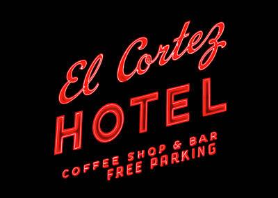 El Cortez Hotel Art Print