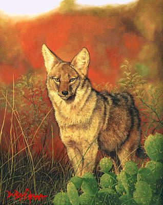 El Coyote Art Print
