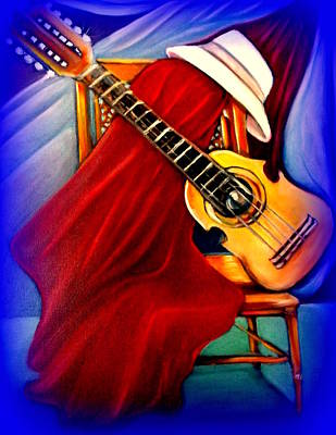Painting - El Cuatro De Papi by Yolanda Rodriguez
