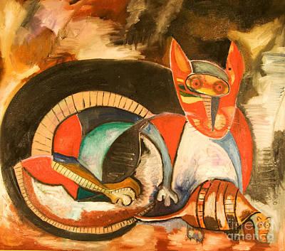 Resilience Painting - El Cuento De Mapache Y El Armadillo by Carlos Navarrete