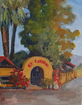 Painting - El Encanto Cave Creek by Nora Sallows