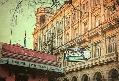 Photograph - El Floridita Havana Cuba by Joan Carroll