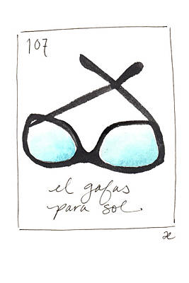 Painting - El Gafas Para Sol by Anna Elkins
