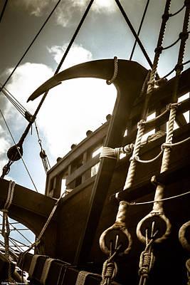 Photograph - El Galeon Anchor by Debra Forand