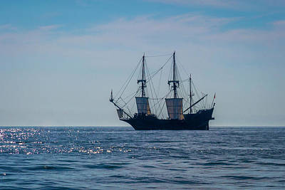 Photograph - El Galeon Andalucia - Lake Erie Fairport Harbor by Jack R Perry