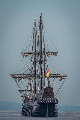 Historic Schooner Photograph - El Galeon Andulacia by Paul Freidlund