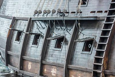Historic Schooner Photograph - El Galeon Cannons by Paul Freidlund