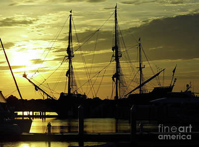 Blue Pirate Ships Landscape Photograph - El Galeon Sunrise by D Hackett
