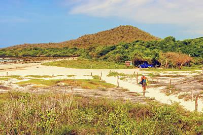 Photograph - El Garrapatero Beach On Santa Cruz Island In Galapagos. by Marek Poplawski