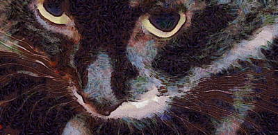 Hamptons Digital Art - El Gato by Richard Worthington