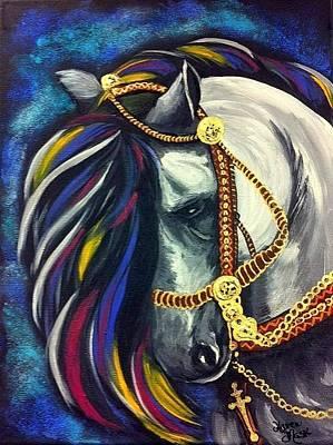 Peruvian Horse Painting - El Guapo Playboy by Karen Mask